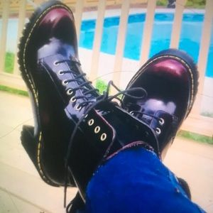 Dr. Martens 10 eye chunky heeled combats nib hot!